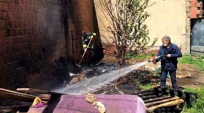 Çocukların çakmakla oyunu yangına neden oldu