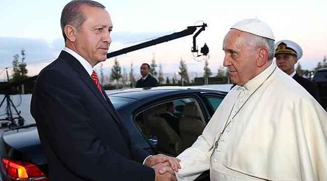 Cumhurbaşkanı Erdoğan, Papa Fransuva ile Gazze konusunu görüştü