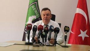 """Denizlispor Kulübü Başkanı Ali Çetin: """"Yaklaşık 72 Milyon TL borç ile göreve başladık. Süper Lig'e de 43 Milyon 378 bin TL borçla başladık."""""""