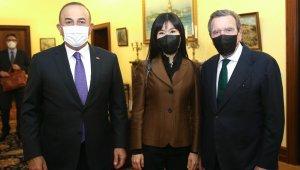 Dışişleri Bakanı Çavuşoğlu, Almanya'da eski Şansölye Schröder ve eski Dışişleri Bakanı Gabriel ile görüştü