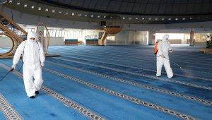 Erzincan'da camiler ve terminal dezenfekte edildi