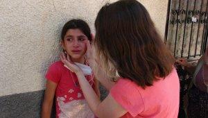 Evsa, evinin yanışını gözyaşı içerisinde izledi