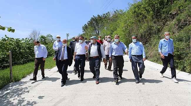 Fatsa'da beton yol çalışmaları sürüyor