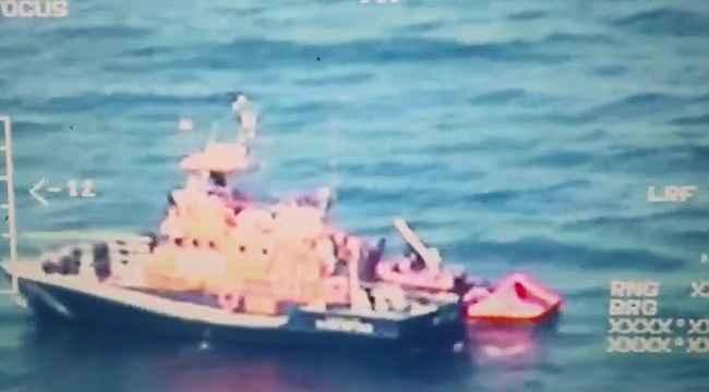 Göçmenler Yunanistan unsurlarınca böyle Türk kara sularına bırakıldı