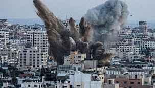 İsrail, Gazze'de Çalışma ile Sosyal Kalkınma bakanlıklarının bulunduğu iki binayı bombaladı