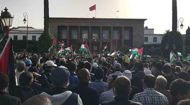 İsrail saldırıları, Fas'ın 50 farklı şehrinde protesto edildi