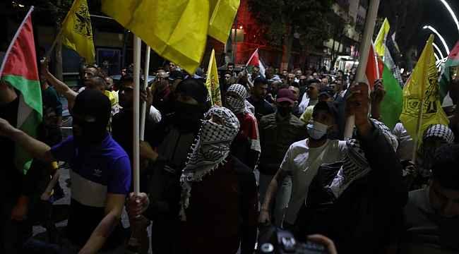 İsrail'den El Halil'deki Filistinlilerin gösterisine ses ve gaz bombalı müdahale