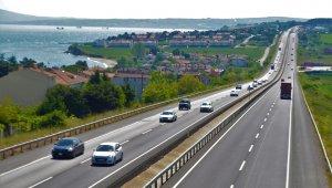 İstanbul-Tekirdağ yolunda çift yönlü yoğunluk var