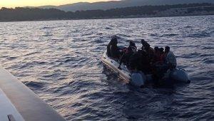 İzmir'de 71 düzensiz göçmen kurtarıldı