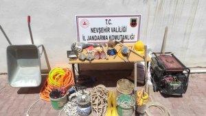 Kapadokya'da kaçak kazı yapan 6 şüpheli suçüstü yakalandı