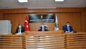 Kapanma nedeniyle İl Genel Meclis toplantısı gecikmeli yapıldı