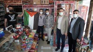 Kestel, Filistin bayraklarıyla donatıldı