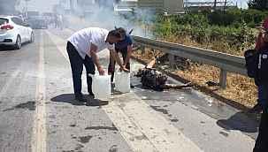 Korkunç olay... Alevler arasında kalan araçtan yanarak çıktı