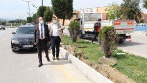 Muhsin Yazıcıoğlu Bulvarında çalışmalar devam ediyor