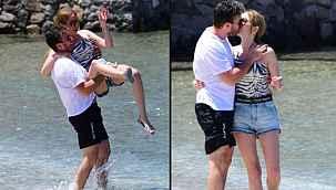 Mustafa Ceceli, aşka geldi... Eşi Selin İmer'i öpücüklere boğdu