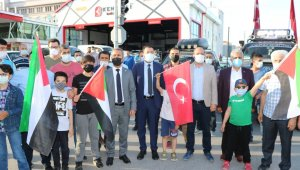 Niğde'de Kudüs'e destek konvoyu
