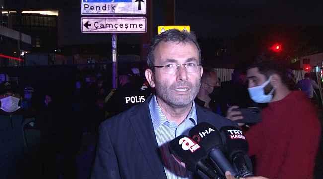 """Pendik Belediye Başkanı Ahmet Cin: """"Etraftaki 13 tane binanın ciddi hasarları var"""""""