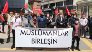 Samsun'da Filistin'e destek eylemi