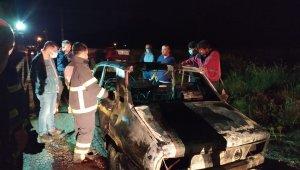 Seyir hâlindeki otomobil yandı
