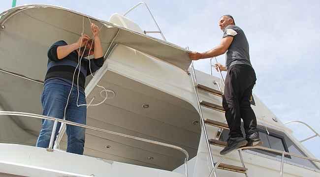 Sinop'ta kısıtlamayı fırsata çevirip tekneleri bakıma aldılar