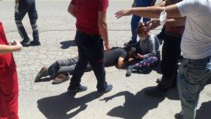 Traktörden düşen kişi yaralandı