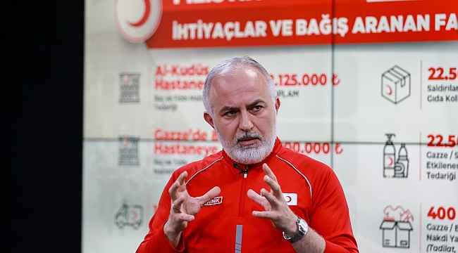 Türk Kızılayı'ndan Filistin için dünyaya insanlık ve dayanışma çağrısı