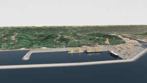 """Ulaştırma ve Altyapı Bakanlığı: """"Rize İyidere Lojistik Limanı çevresel açıdan en doğru yaklaşımlarla inşa ediliyor"""""""