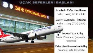 Zafer Havalimanı'nda uçak seferleri başladı
