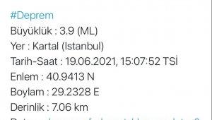 AFAD'dan edinilen bilgeye göre, İstanbul'da saat 15.07'de merkezüssü Kartal olan 3.9 büyüklüğünde bir deprem meydan geldi. Sarsıntı 7.06 kilometrede gerçekleştiği kaydedildi. Deprem İstanbul'un çevresindeki illerde de hissedildi.