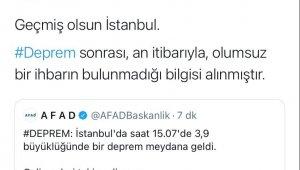 AFAD'tan deprem açıklaması