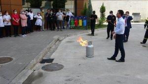 Ağız ve Diş Hastanesi personeline deprem ve yangın tatbikatı