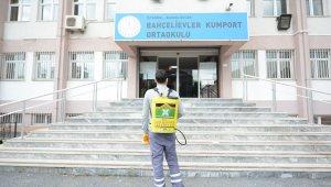 Bahçelievler'de LGS öncesi okullar dezenfekte edildi