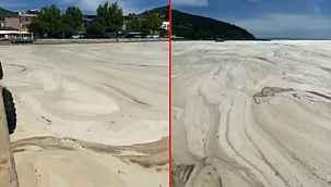Balıkesir'in Erdek ilçesinde müsilaj sorunu kıyıları görünmez hale getirdi