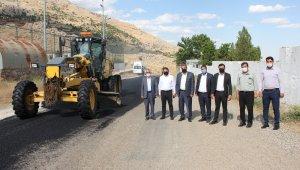 Başkan Erdoğan asfaltlama çalışmalarını yerinde inceledi