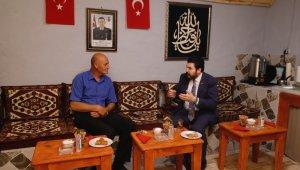 Başkan Sayan, Şehit Harun Aslan'ın ailesini ziyaret etti