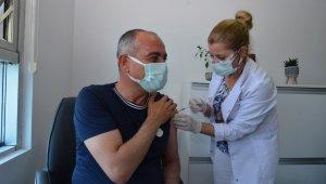 Başkan Sertaslan aşı oldu