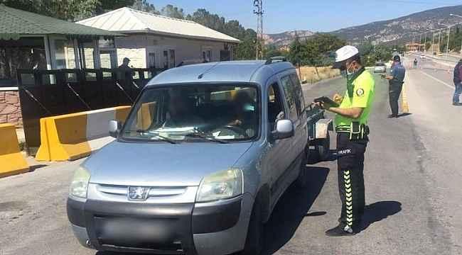 Burdur'da 190 araç sürücüne ceza