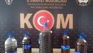 Burdur'da 38,5 litre kaçak içki yakalandı
