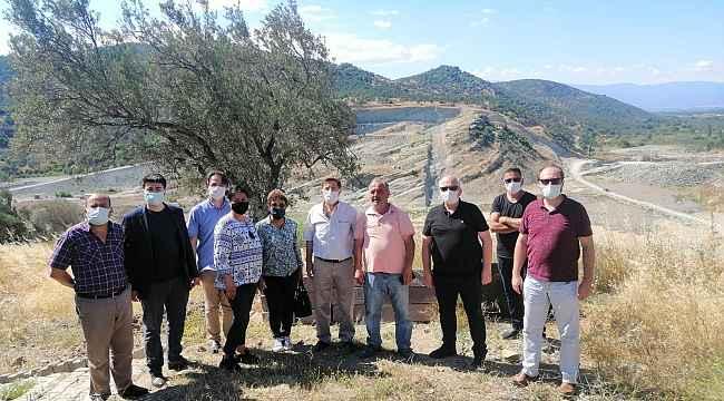 Burhaniye'de Reşitköy Barajı inşaatı devam ediyor