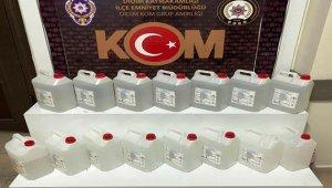 Didim'de 55 litre etil alkol ele geçirildi