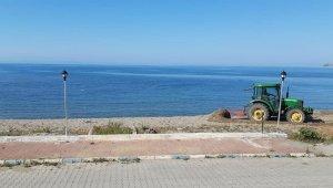 Güzelkent'te sahil düzenleme çalışmaları