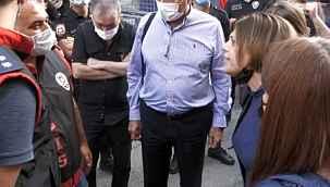 HDP'li Beştaş ile polisler arasında çadır tartışması