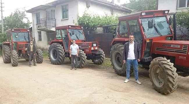 Hisarcık'ta ORKÖY desteğiyle 6 orman köylüsü traktörlerine kavuştu