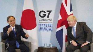 Japonya Başbakanı Suga ile Johnson'dan G7 görüşmesi