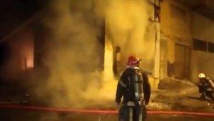 Kahramanmaraş'ta iş yeri yangını