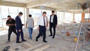 Karaköprü'de yüzme havuzu çalışmaları sürüyor