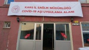 Kars'ta Kovid-19 aşılama çalışmaları hız kazandı
