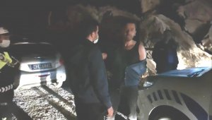 Kaza yaptığını fark etmeyen alkollü sürücü kovalamaca sonucu yakalandı