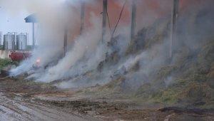 Kırklareli'nde çiftlikte çıkan yangının soğutma çalışmaları devam ediyor