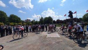 KKTC Gazisi için Ordu'ya pedal çevirdiler